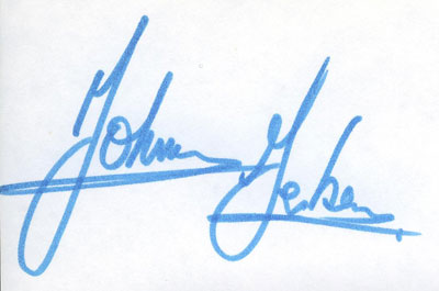 autograph JOHNNY GERBER_2