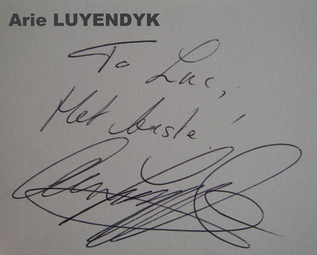 autograph collection Luc Ghys