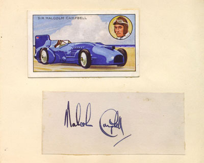 autograph SIR MALCOLM CAMPBELL_1