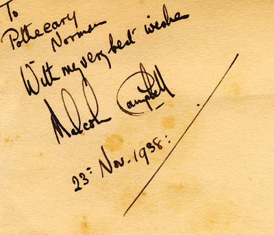 autograph SIR MALCOLM CAMPBELL_2