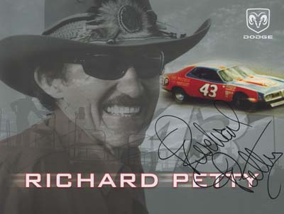 autograph Richard Petty_2