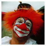 Carlos as a clown