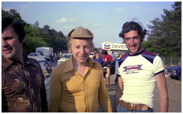 John Surtees, posing with deerstalker