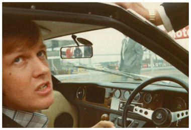Ronnie Peterson at the wheel of a JPS Lotus Europe