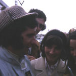 Emerson Fittipaldi, posing with deerstalker