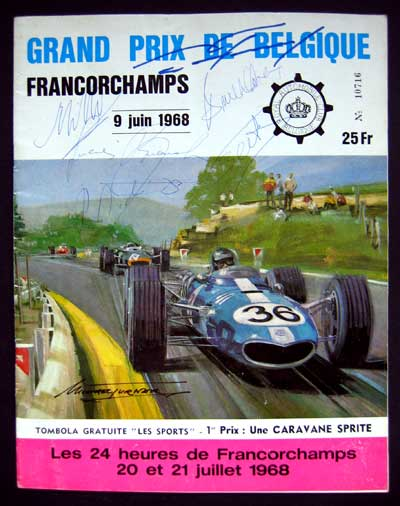 Program 1968 Belgian GP
