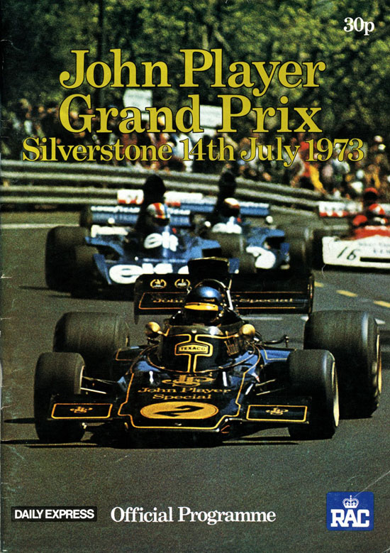 PROGRAM BRITISH GP 1973 with AUTOGRAPHS