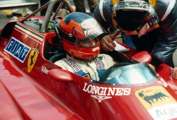 Gilles Villeneuve and his engineer Tommaini