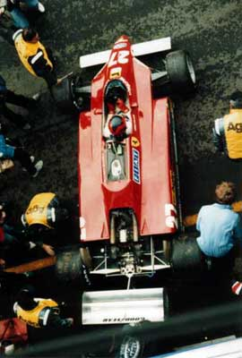 Gilles Villeneuve prepares for his qualifying lap-6
