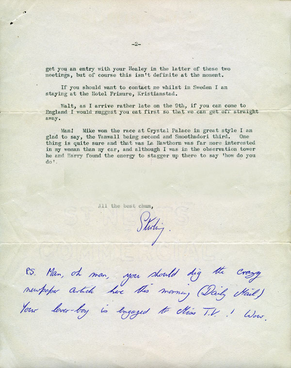 letter Sir Stirling Moss 13