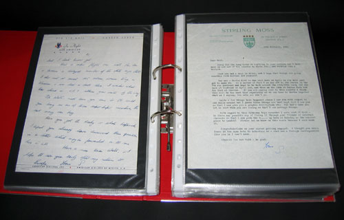 letter Sir Stirling Moss 20