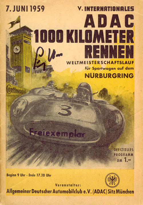 program 1000 km Nürburgring 1959