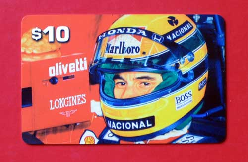 telephone card Senna-verso