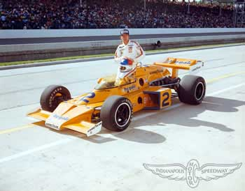 Walt Monaco-40-1976 Indy 500 winner Johnny Rutherford